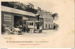 OMNIBUS De Dion Bouton Cie Des Messageries Automobiles  Garage De Quillebeuf - Bus & Autocars