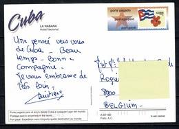 Cuba - Post Card To Belgium (2 Scans) - Cuba