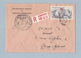 N° 48 Sur Enveloppe Recommandée Secrétariat Greffe TGI D' Ajaccio 29/11/84 - Postmark Collection (Covers)