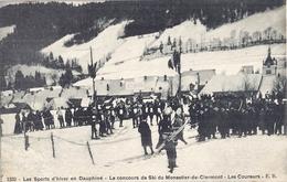 1332-LES SPORTS D'HIVER EN DAUPHINE-MONESTIER DE CLERMONT-LE CONCOURS DE SKI-LES COUREURS 1908 - Otros Municipios