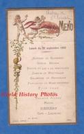 Menu Ancien Illustré De 1892 - Château De SAINT ROMAIN - Lunch Du 26 Septembre - Cuisine Cook Cuisinier - Menus