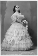 """0607 """"MARIA CANIGLIA - NAPOLI 1905-ROMA 1979 - SOPRANO"""" AUTOGRAFO. FOTO M. CAMUZZI. - Autographes"""