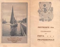 """0608 """"CALENDARIO - PENTECOSTE 1914 CELEBRANDO LA FESTA PROFESSIONALE - PROFUMATO ALLA VIOLETTA DI PARMA"""" ORIG - Calendars"""