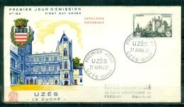 """FDC  # 1957-France # Sites Et Monuments # Architecture """" Le Duché """" Uzès   (Edit. Coq) - 1950-1959"""