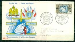 FDC  # 1957-France # 150° Anniversaire De La Cour Des Comptes # Rechnungshof  ,Paris (Edit. PAC - 1950-1959
