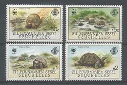 1987 Zil Elwannyen Sesel WWF Aldabra Giant Tortoise (reprint) Set (** / MNH / UMM) - W.W.F.