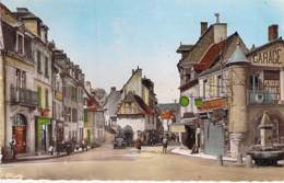 23 - AUBUSSON : Place D'Espagne Et Grande Rue - Jolie CPSM Dentelée Colorisée Format CPA - Creuse - Aubusson