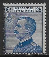 Italia Italy 1908 Regno Michetti Sinistra Effigie C25 Sa N.83 Nuovo MH * - Nuovi