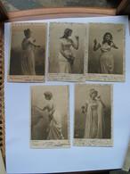 Série De 5 Cpa , Voyagées 1906: Les CINQ SENS //   B. SIRVEN - TOULOUSE - PARIS - Illustrateurs & Photographes