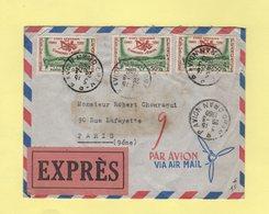 Oran RP Avion - Lettre En Expres Par Avion Pour Paris - 26-3-1960 - Pneumatique - Covers & Documents