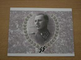 CARTE PHOTO REX LEON DEGRELLE COLLABORATION BELGIQUE WAFFEN SS LEGION WALLONIE - Documents