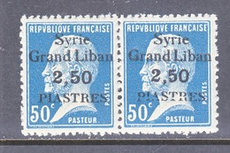 FRENCH  SYRIA  164 X 2  **   OVERPRINT  VARIETY - Unused Stamps