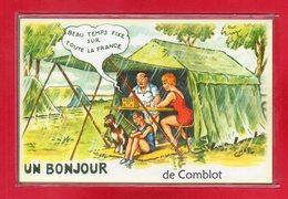 """61-CARTE POSTALE HUMOURISTIQUE """" COMBLOT """" - France"""