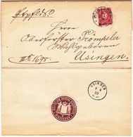 Brief Der Königlichen Regierung Wiesbaden  Nach Usingen - Historical Documents