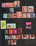 Hong Kong,  Lot Of 26 Used Stamps - Queen Elizabeth, Landscapes, Insects, Birds - 1997-... Regione Amministrativa Speciale Della Cina