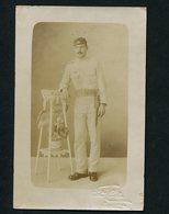 Postal Fotografico SOLDADO PORTUGUES Uniforme WWI. Fotografo CORREA COVILHÃ. Portugal 1917 - Guerre, Militaire
