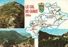 CARTE POSTALE - CARTE GEOGRAPHIQUE  - LE COL DE CABRE - Maps