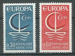 France YT N°1490/1491 Europa 1966 Neuf ** - Francia