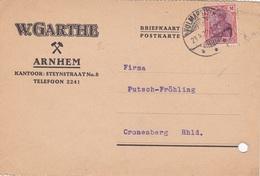 1 Karte Aus Arnhem Nach Cronenberg, 1922 - Periode 1891-1948 (Wilhelmina)