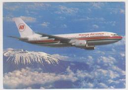 [724] KENYA AIRWAYS. Airbus A310-300. Official Postcard.- Unwrited. Non écrite. No Escrita. Non Scritta. - 1946-....: Era Moderna