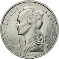 Monnaie, Réunion, 5 Francs, 1955, Paris, ESSAI, SPL, Aluminium, KM:E5 - Reunion