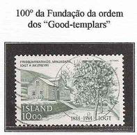 LSJP ICELAND 100 YEARS OF ORDER FOUNDATION GOOD TEMPLARS YVERT 571 1984 - 1944-... Republik