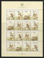 1990 Portugal (Azores) WWF San Miguel Bullfinch Sheetlet (** / MNH / UMM) - W.W.F.