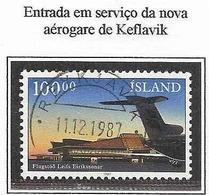 LSJP ICELAND AIRPORT KEFLAVIK AIRPLANE YVERT 617 1987 - 1944-... Republik