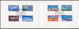"Bund: Minister Card - Ministerkarte Typ V, Mi-Nr 1040-43+ B 617-20 ESST: "" Jugend 1980: Luftfahrt "", Rar !      X - [7] Repubblica Federale"