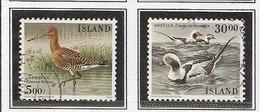 LSJP ICELAND FAUNA BIRDS YVERT 644/45 1988 - 1944-... Republik