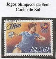 LSJP ICELAND OLYMPIC GAMES SEOUL - SOUTH KOREA YVERT 641 1988 - 1944-... Republik