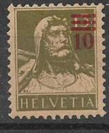 SVIZZERA  1921 FRANCOBOLLI SOPRASTAMPATI UNIF. 182 MNH XF - Svizzera