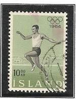 LSJP ICELAND OLYMPIC GAMES TOKIO JAPAN YVERT 342 1964 - 1944-... Republik