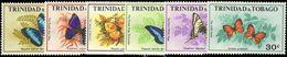Trinidad & Tobago 1972 Butterflies Unmounted Mint. - Trinidad & Tobago (1962-...)
