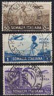 SOMALIA - 1936 - Lotto Formato Da Tre Valori Obliterati: Yvert 19, 22 E 23. - Somalia