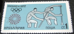 Bulgaria 1972 Olympic Games Munich 1 Ct - Used - Gebraucht