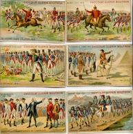 Série 6 Chromos Chocolat GUÉRIN BOUTRON - Histoire Époque Napoléon - Voir Recto Et Verso - Guérin-Boutron
