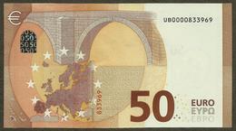 France - 50 Euro - U001 C2 - UB0000833969 - Draghi - AUNC - EURO