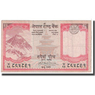 Billet, Népal, 5 Rupees, 2008, KM:60, B - Népal