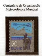 LSJP ICELAND 100 YEARS OF THE ORGANIZATION OF METEROLOGY YVERT 437 1973 - 1944-... Republik