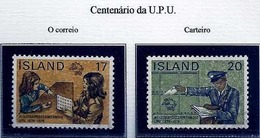LSJP ICELAND 100 YEARS OF UPU MAILS  POSTMAN 1974 - 1944-... Republik