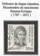 LSJP ICELAND 200 YEARS OF BIRTH RASMUS KRISTJAN YVERT 620 1987 - 1944-... Republik