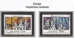 LSJP ICELAND EUROPE MODERN ARCHITECTURE YVERT 618/19 1987 - 1944-... Republik
