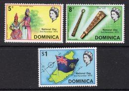 DOMINICA - 1970 NATIONAL DAY SET (3V) FINE MNH ** SG 308-310 - Dominica (...-1978)