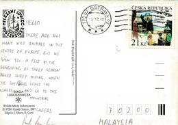 23A :Czech Republic Scout Jamboree Camping Stamp On Sheep Postcarad - Czech Republic