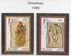 LSJP ICELAND CHRISTMAS YVERT 813/14 1996 - 1944-... Republik