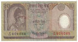 Billet, Népal, 10 Rupees, 2002, KM:45, TB - Népal