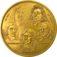 France, Médaille, Colbert, Leveau, Lebrun, Construction Du Louvre, 1974, FDC - France