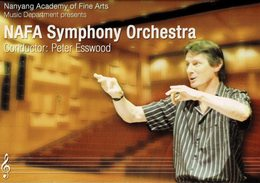 23B : Singapore Music Conductor Nafa Symphony Orchestra Peter Esswood Advertisement Postcard - Music And Musicians