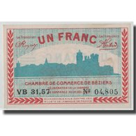 France, Béziers, 1 Franc, 1920, SUP+, Pirot:27-31 - Chamber Of Commerce